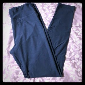 Lularoe Dark Blue/teal OS leggings